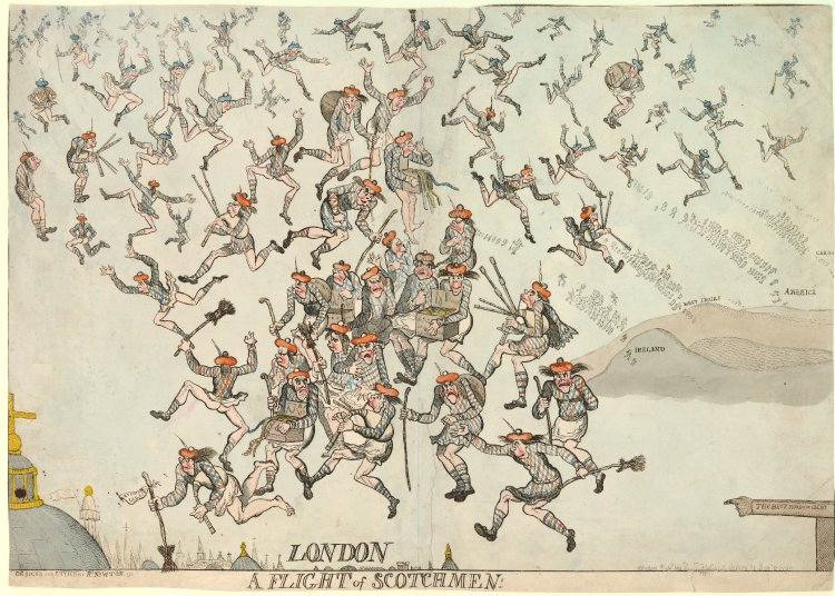 A flight of scotchmen